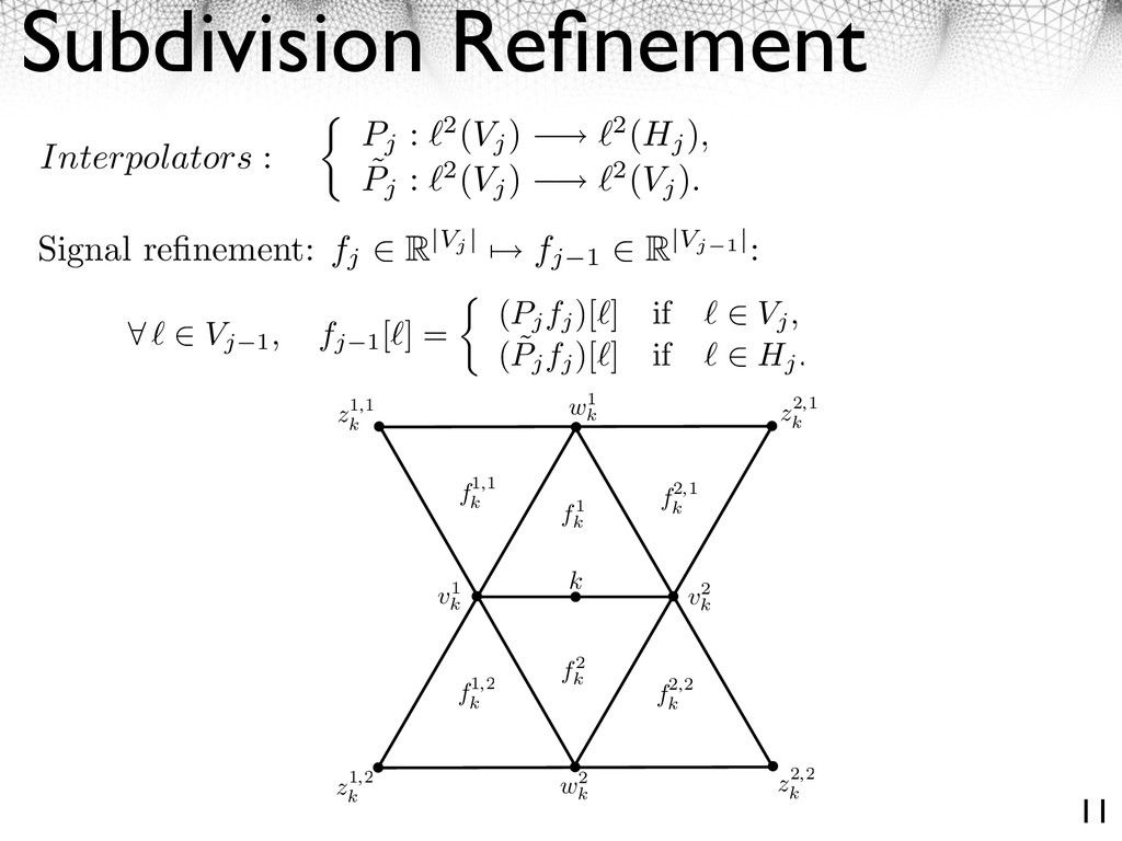 Subdivision Refinement 11 define ˜ Pj . For a ver...
