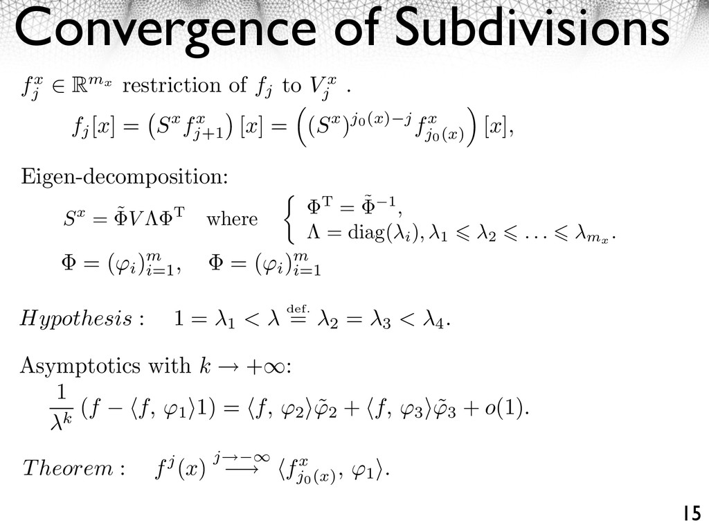 Convergence of Subdivisions 15 fx j Rmx restric...