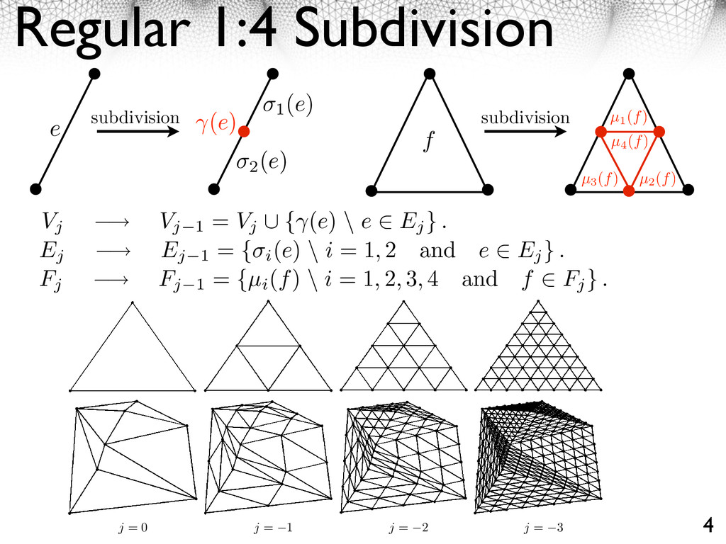 Regular 1:4 Subdivision 4 48 CHAPTER 3. MULTIRE...
