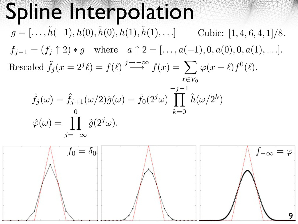 Spline Interpolation 9 g = [. . . , ˜ h( 1), h(...