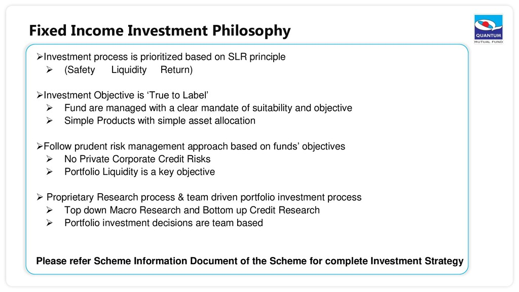 Fixed Income Investment Philosophy Investment ...