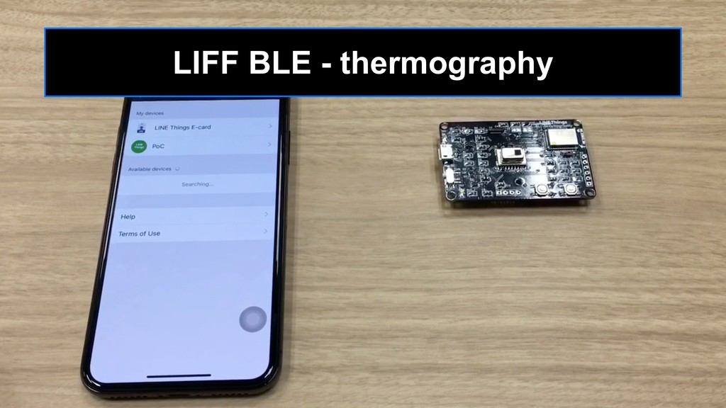 LIFF BLE - thermography