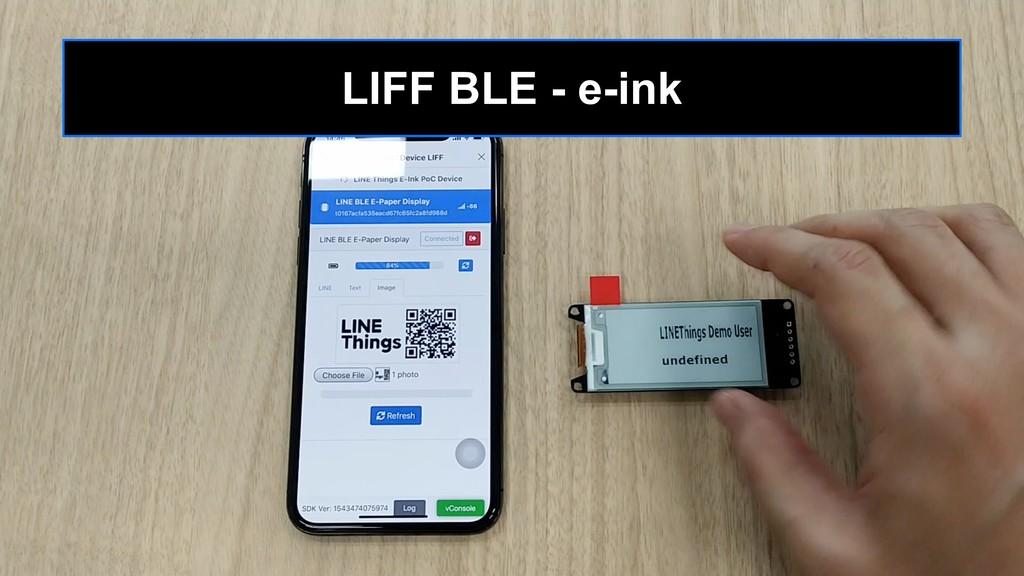 LIFF BLE - e-ink