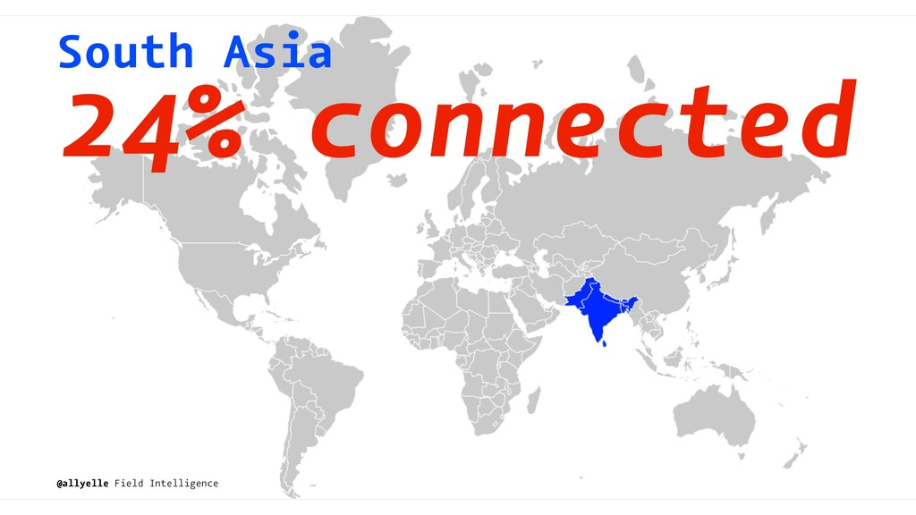South Asia 24% connected @allyelle Field Intell...