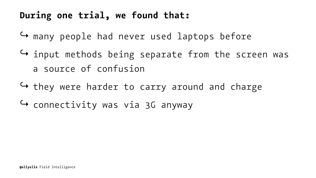 During one trial, we found that: ↪ many people ...