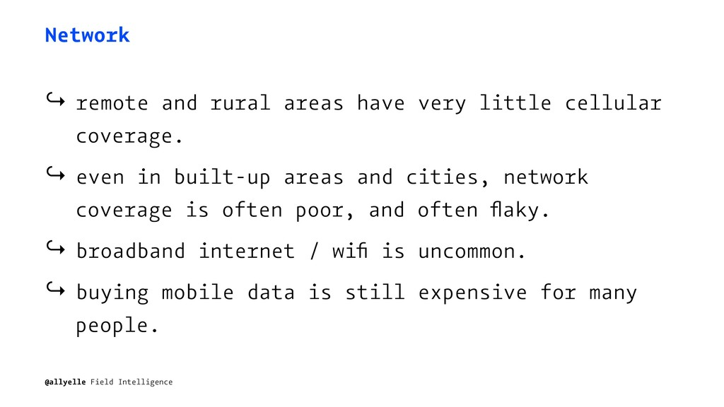 Network ↪ remote and rural areas have very litt...