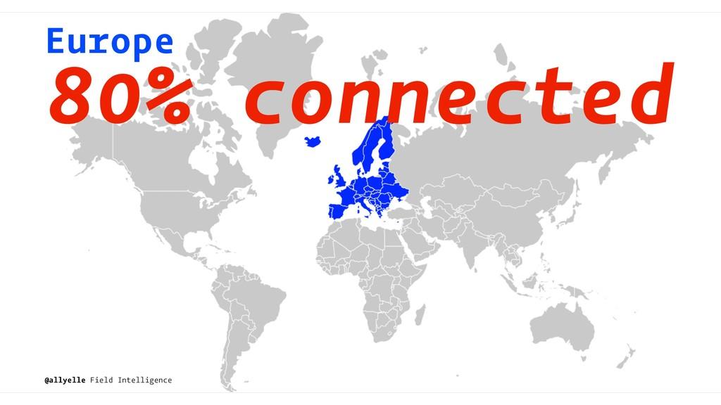 Europe 80% connected @allyelle Field Intelligen...