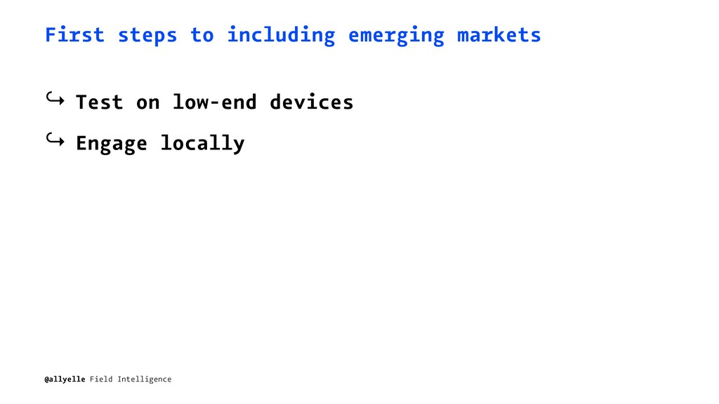 First steps to including emerging markets ↪ Tes...
