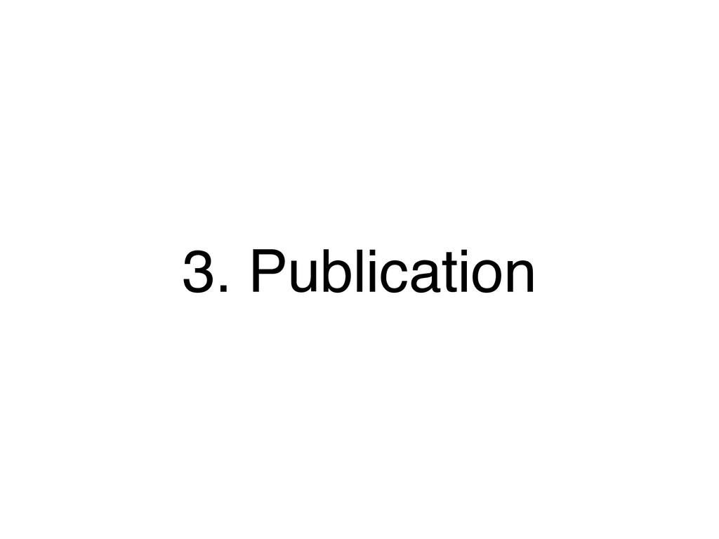 3. Publication