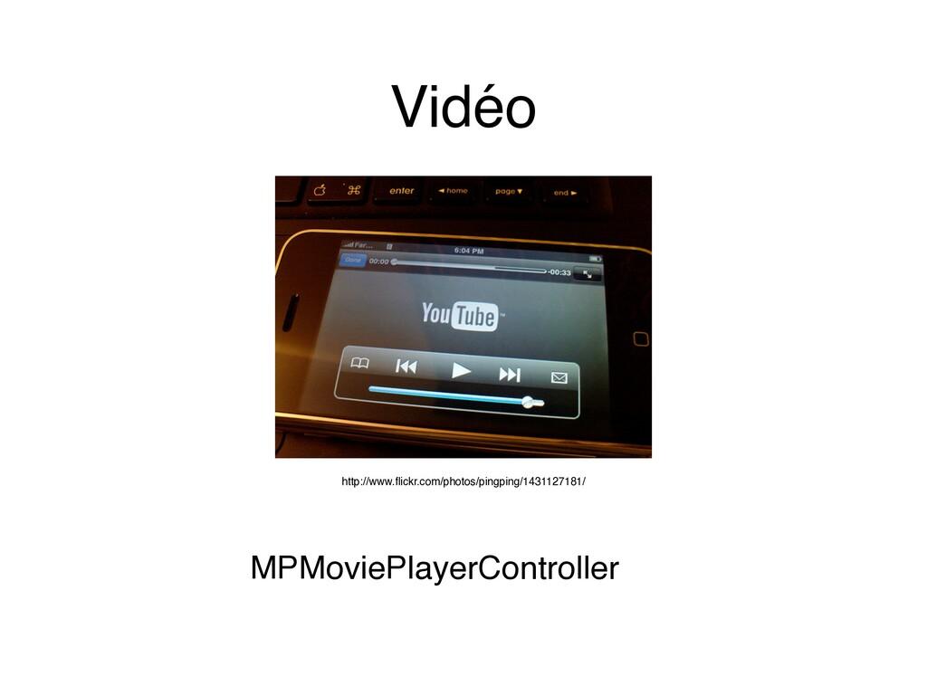 Vidéo MPMoviePlayerController http://www.flickr....