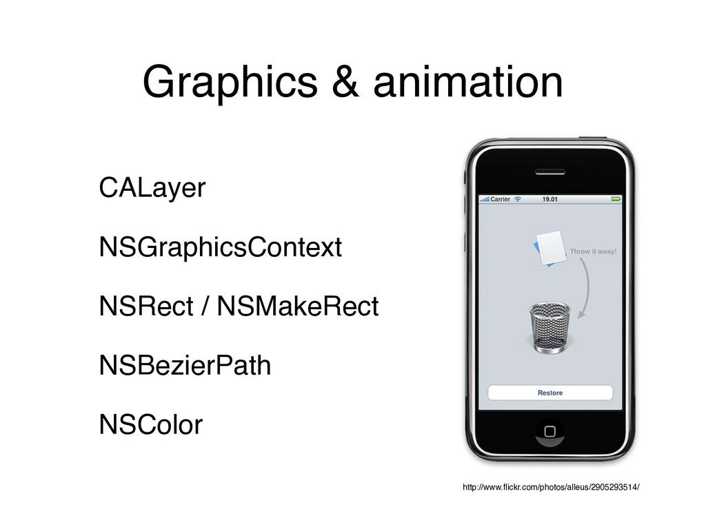 Graphics & animation CALayer NSGraphicsContext ...