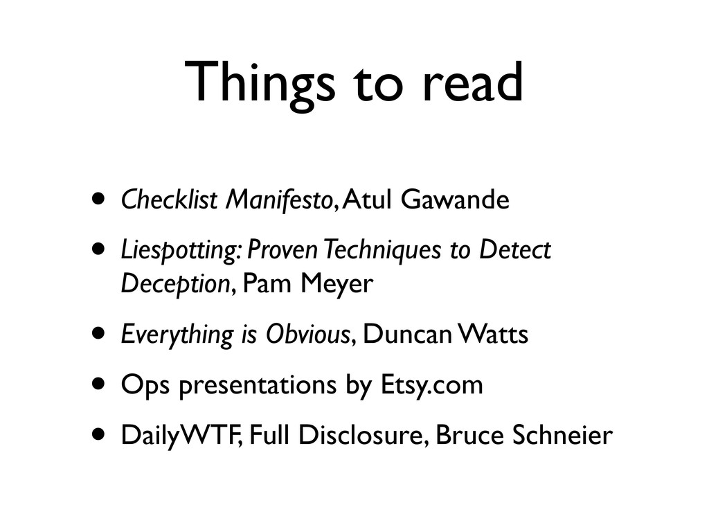Things to read • Checklist Manifesto, Atul Gawa...