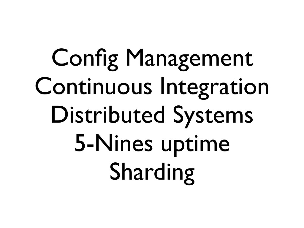Config Management Continuous Integration Distrib...