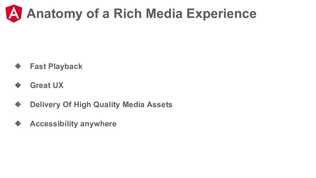 Anatomy of a Rich Media Experience ❖ Fast Playb...