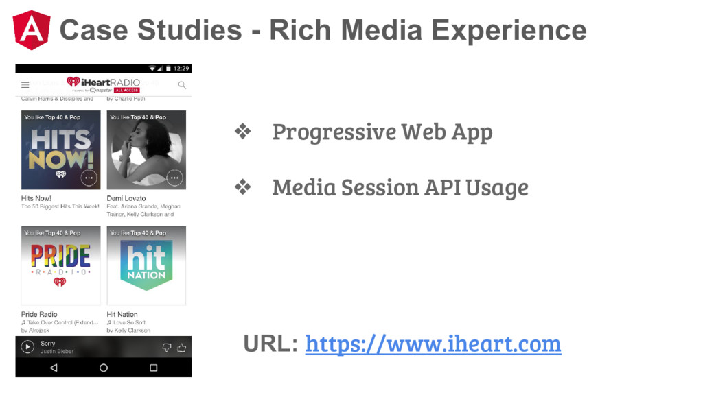 Case Studies - Rich Media Experience ❖ Progress...