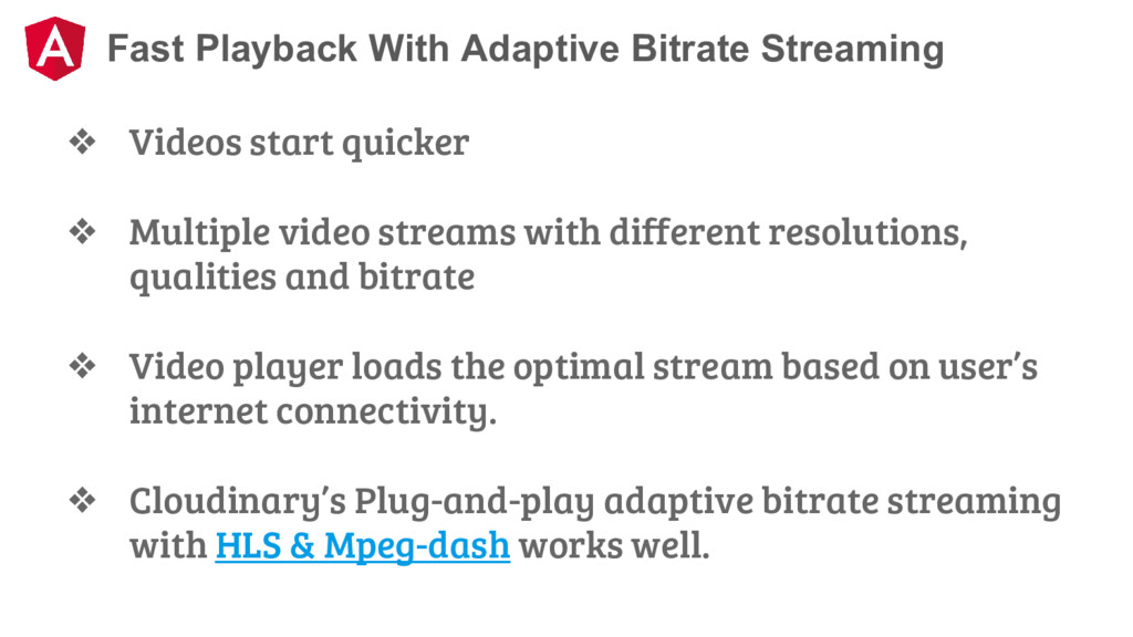 Fast Playback With Adaptive Bitrate Streaming ❖...
