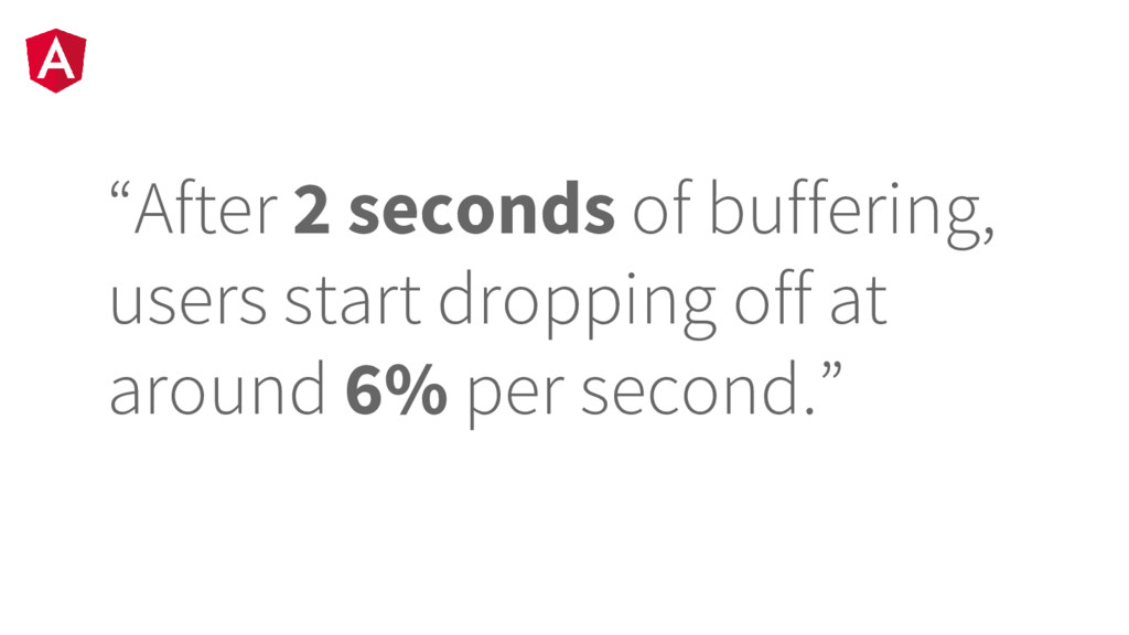 """""""After 2 seconds of buffering, users start drop..."""