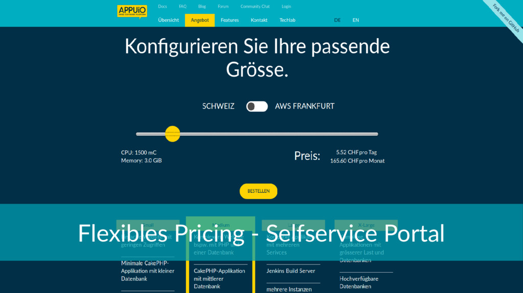Flexibles Pricing - Selfservice Portal