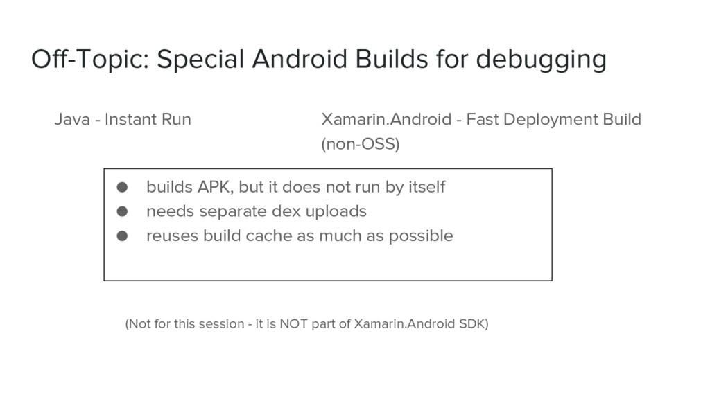 Off-Topic: Special Android Builds for debugging...
