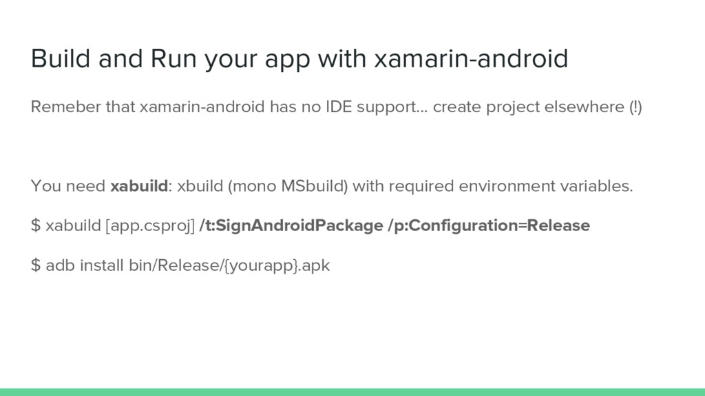 Build and Run your app with xamarin-android Rem...