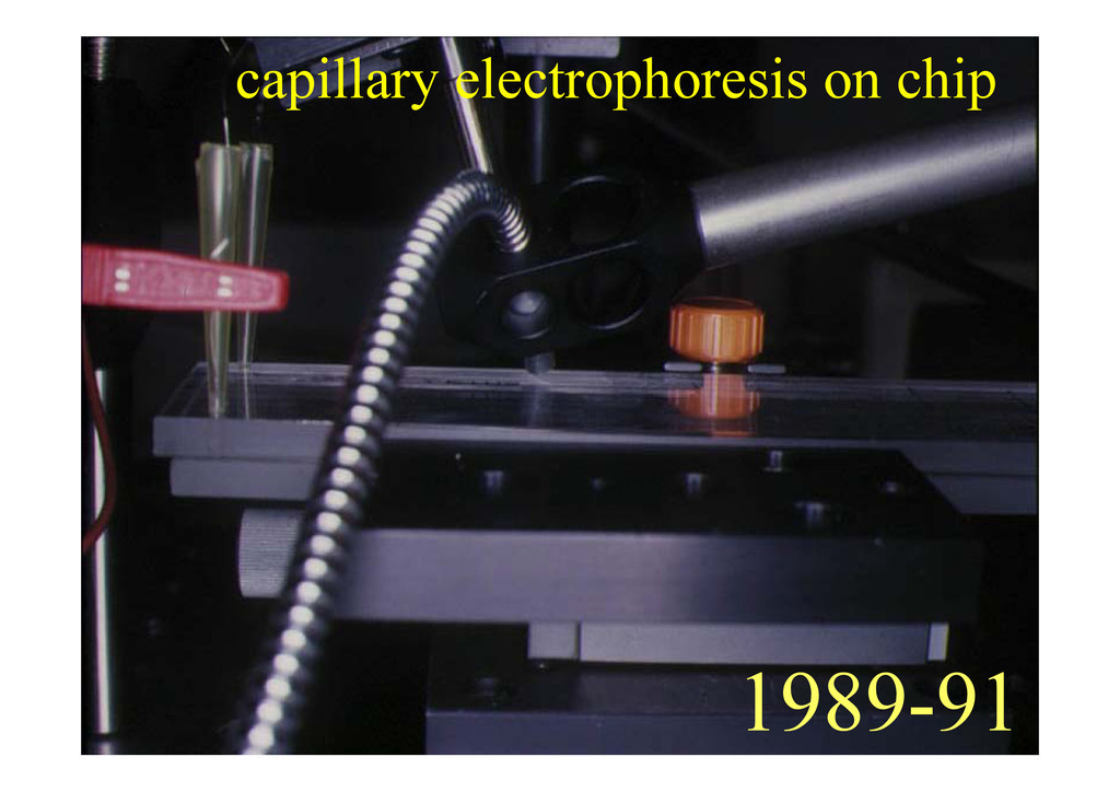 capillary electrophoresis on chip 1989-91