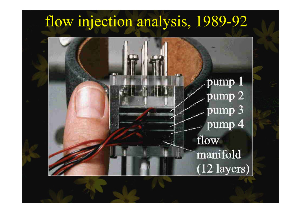 flow injection analysis, 1989-92