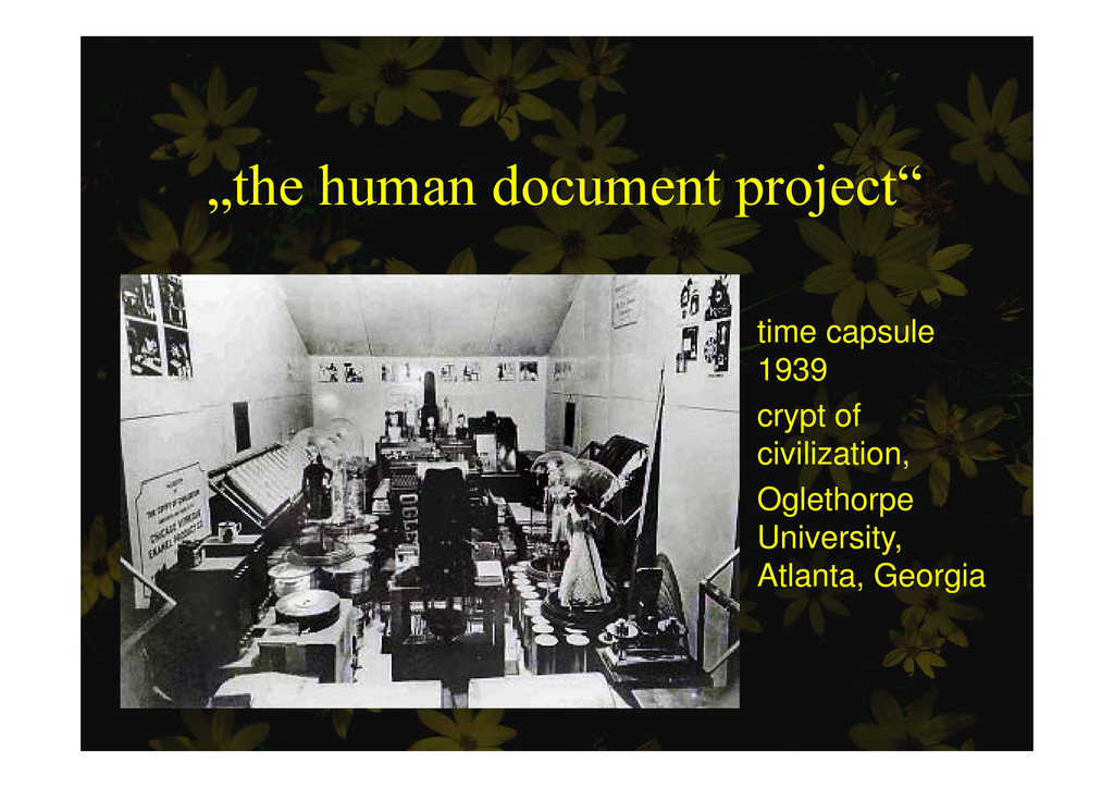 """the human document project"" p j time capsule 1..."