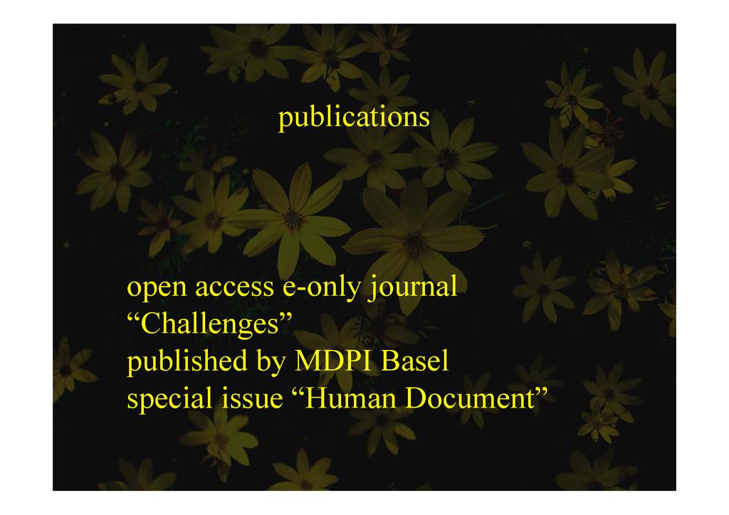 """publications open access e-only journal """"Ch ll ..."""