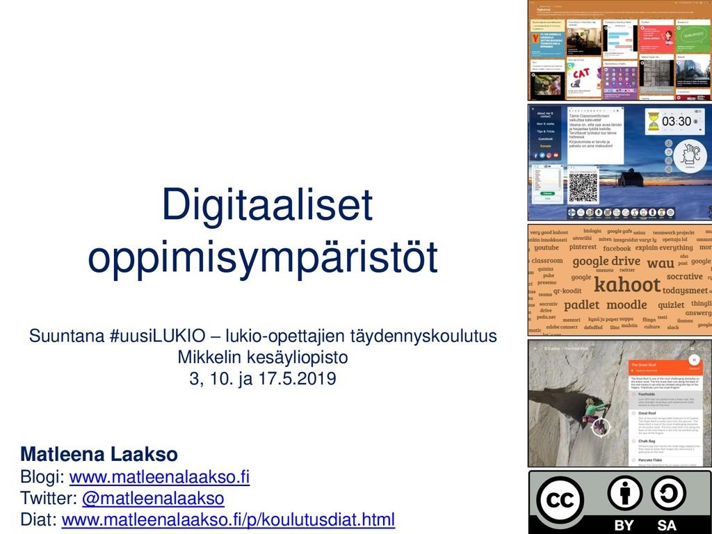 Matleena Laakso Blogi: www.matleenalaakso.fi Tw...
