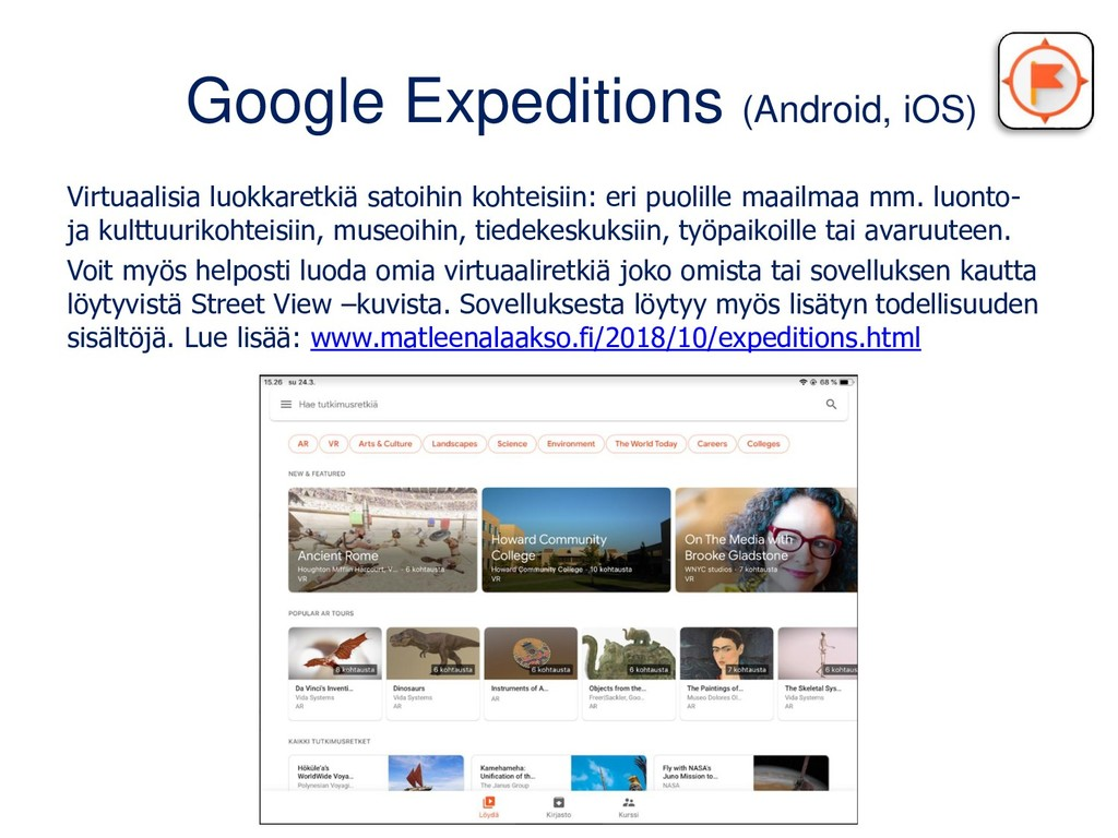 Google Expeditions (Android, iOS) Virtuaalisia ...