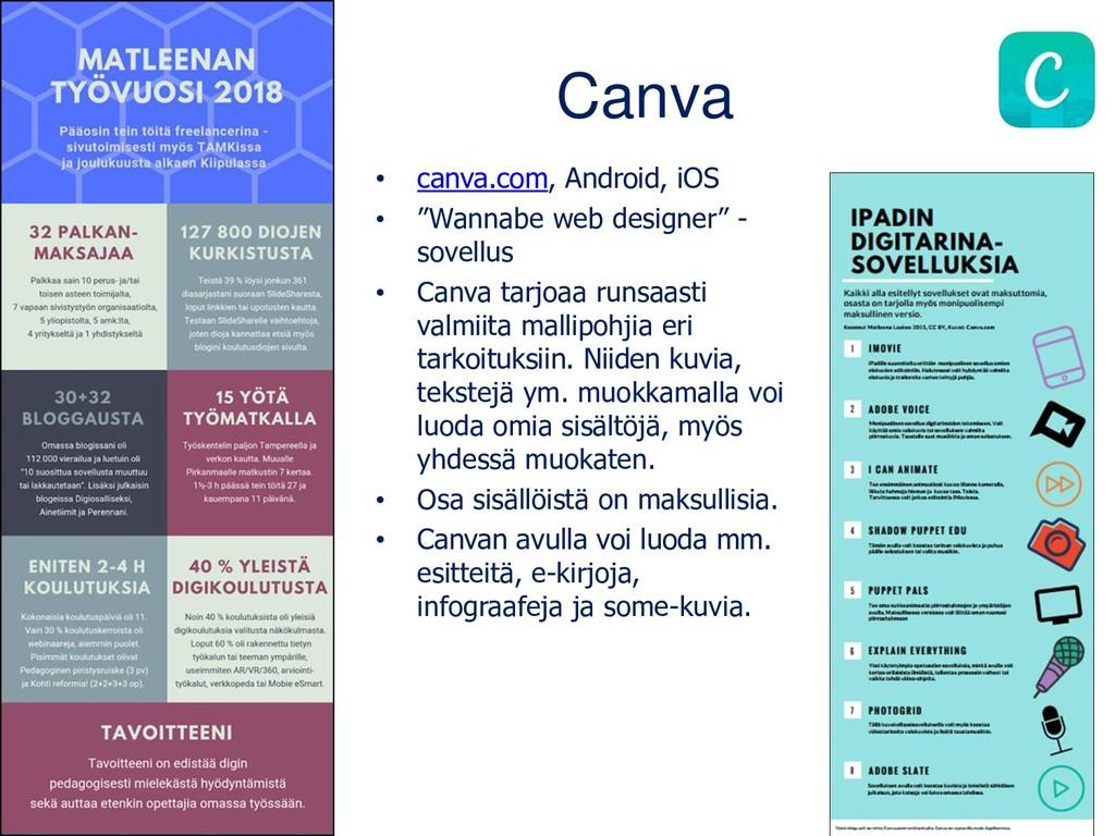 """Canva • canva.com, Android, iOS • """"Wannabe web ..."""