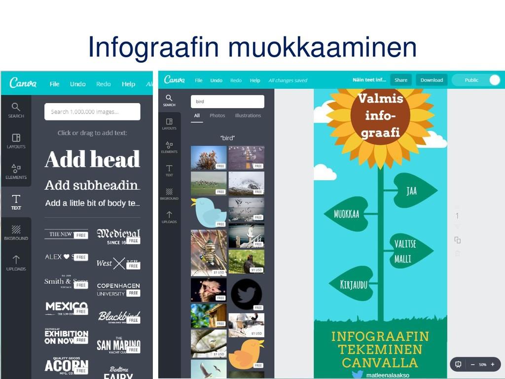 Infograafin muokkaaminen