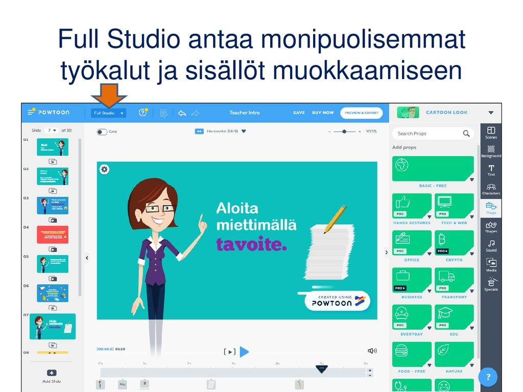 Full Studio antaa monipuolisemmat työkalut ja s...