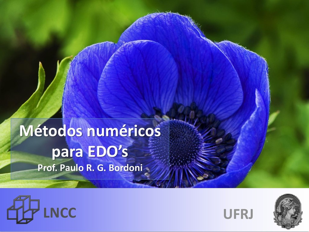 LNCC Métodos numéricos para EDO's Prof. Paulo R...