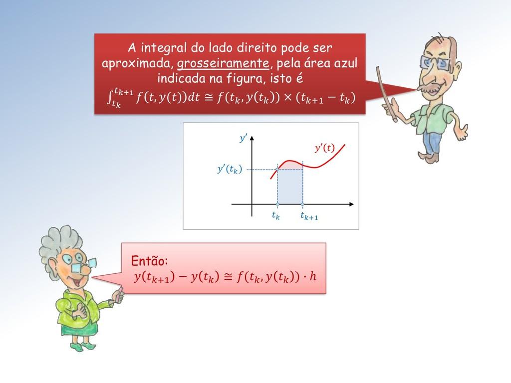 A integral do lado direito pode ser aproximada,...