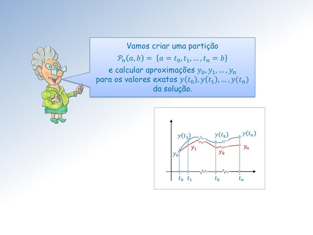 Vamos criar uma partição  ,  =  = 0 , 1 , … ,  ...