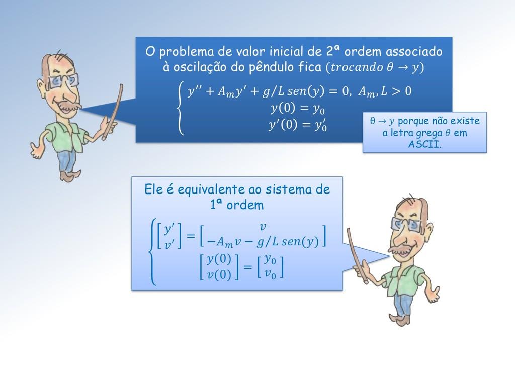 O problema de valor inicial de 2ª ordem associa...
