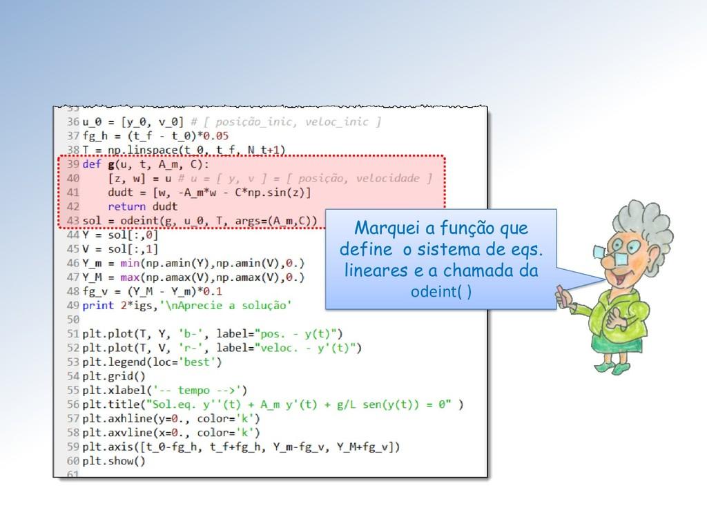 Marquei a função que define o sistema de eqs. l...