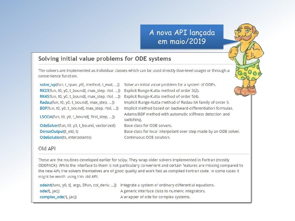 A nova API lançada em maio/2019