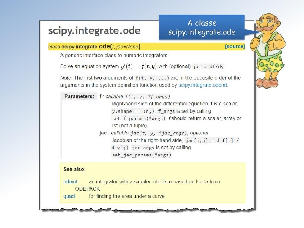 A classe scipy.integrate.ode