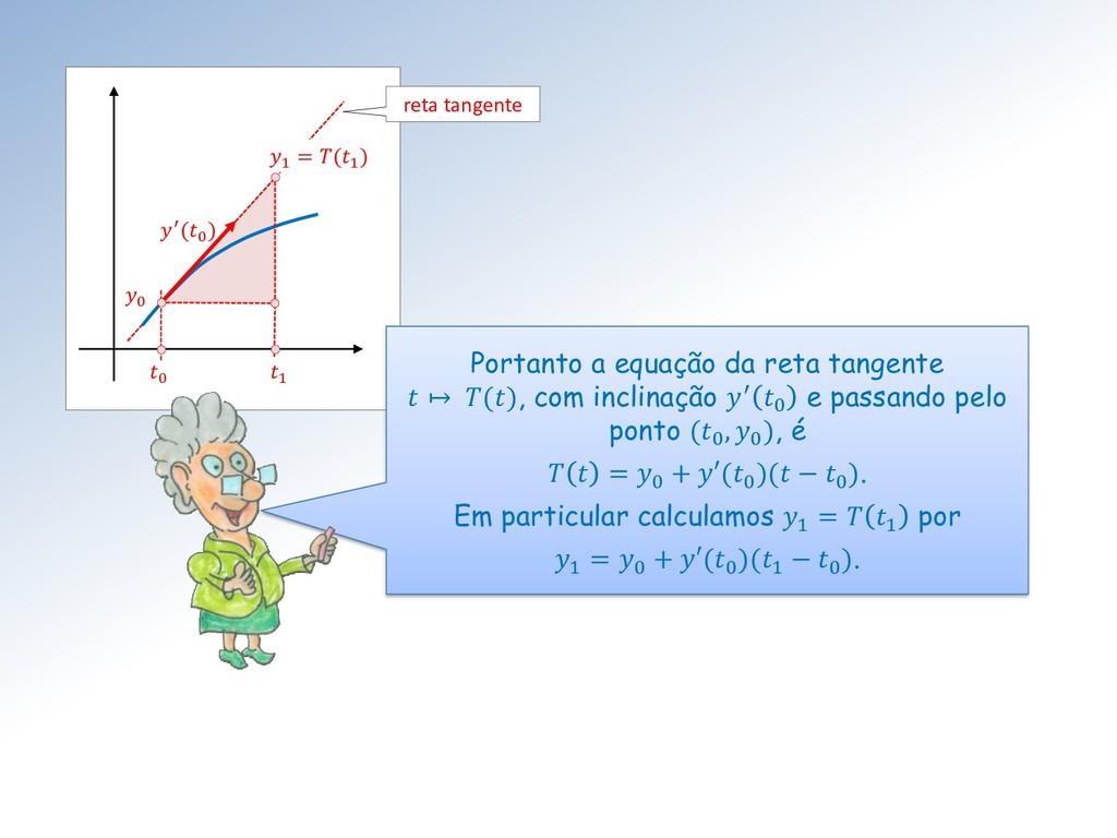0 ′(0 ) 1 1 = (1 ) 0 Portanto a equação da reta...