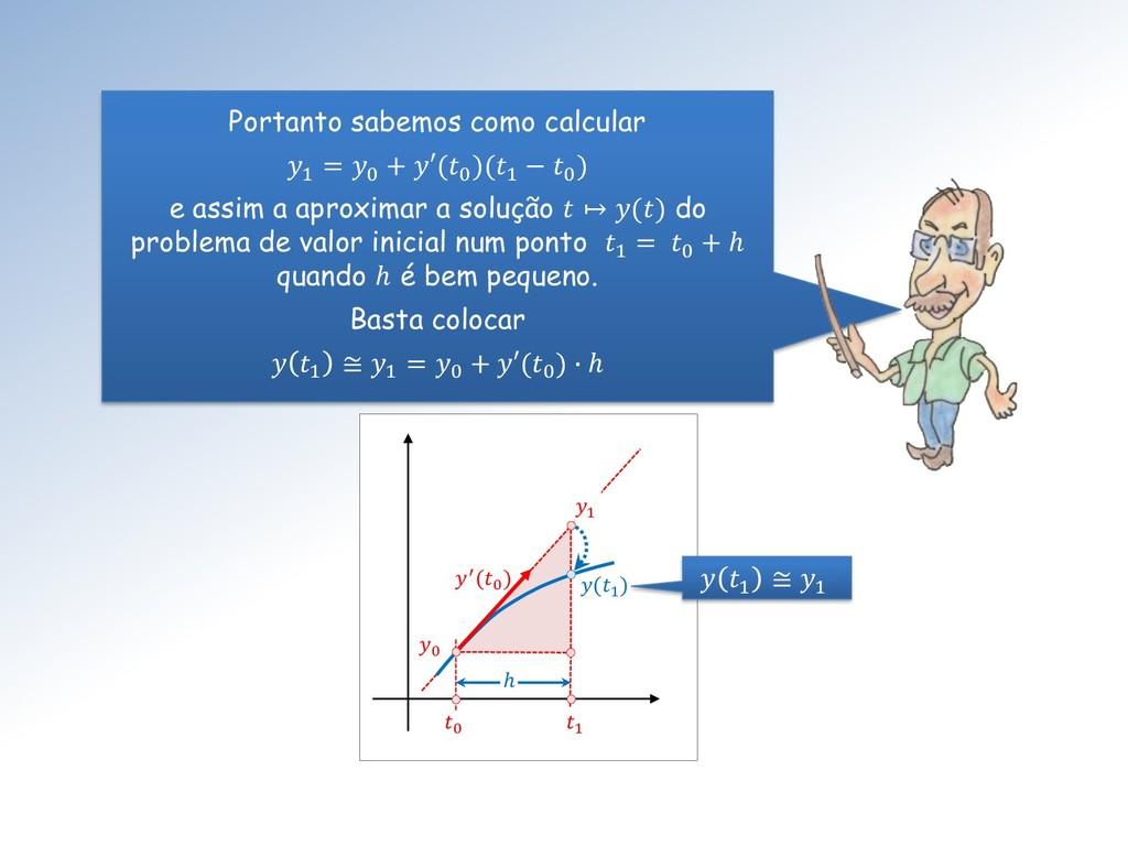 0 ′(0 ) 1 1 0 ℎ Portanto sabemos como calcular ...
