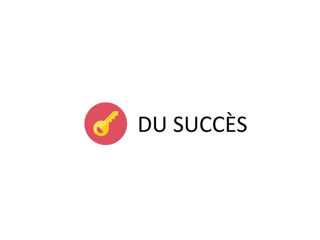 DU SUCCÈS