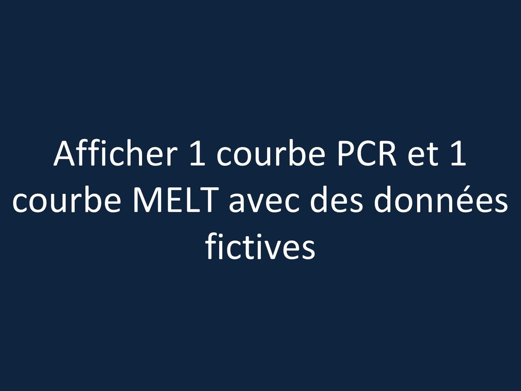 Afficher 1 courbe PCR et 1 courbe MELT avec des...