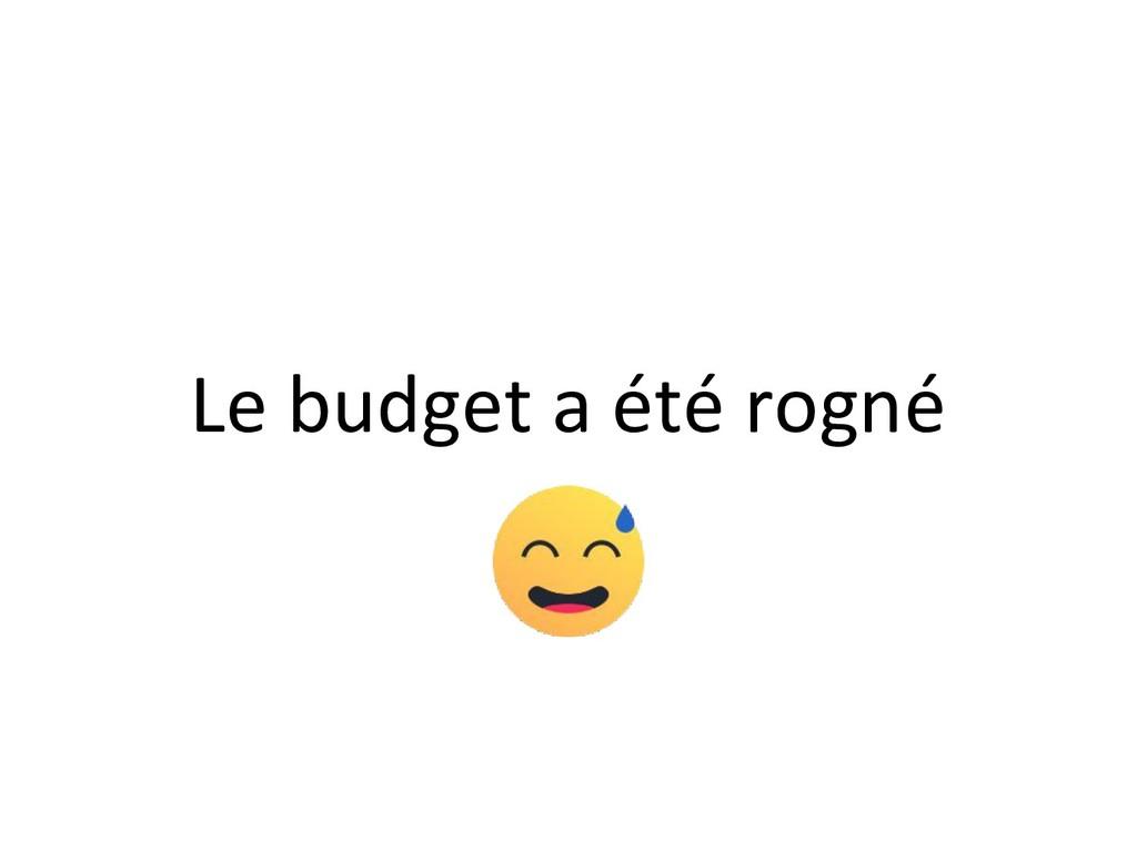 Le budget a été rogné