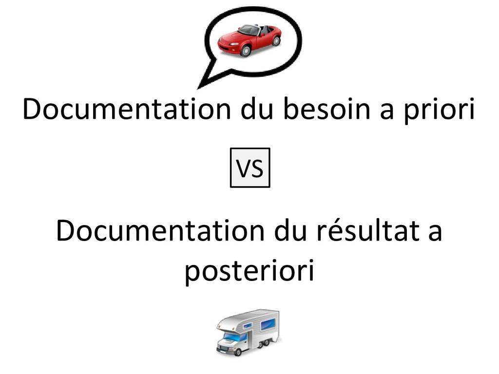 Documentation du besoin a priori Documentation ...