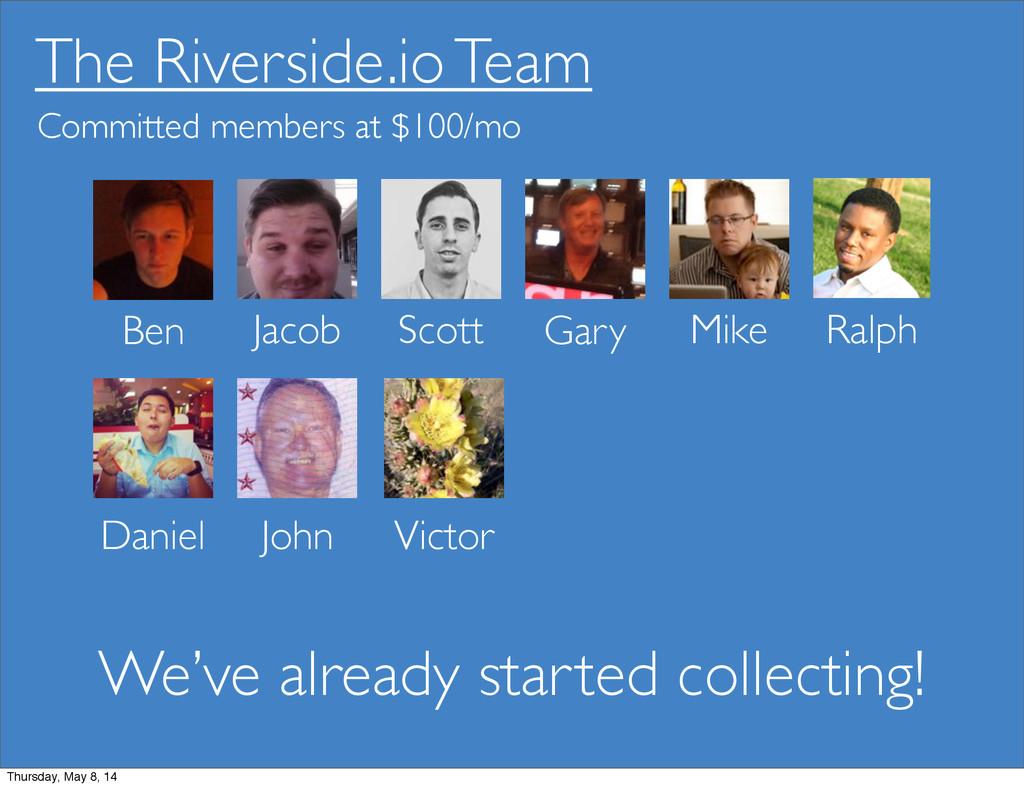 The Riverside.io Team Ben Jacob Scott Gary Mike...