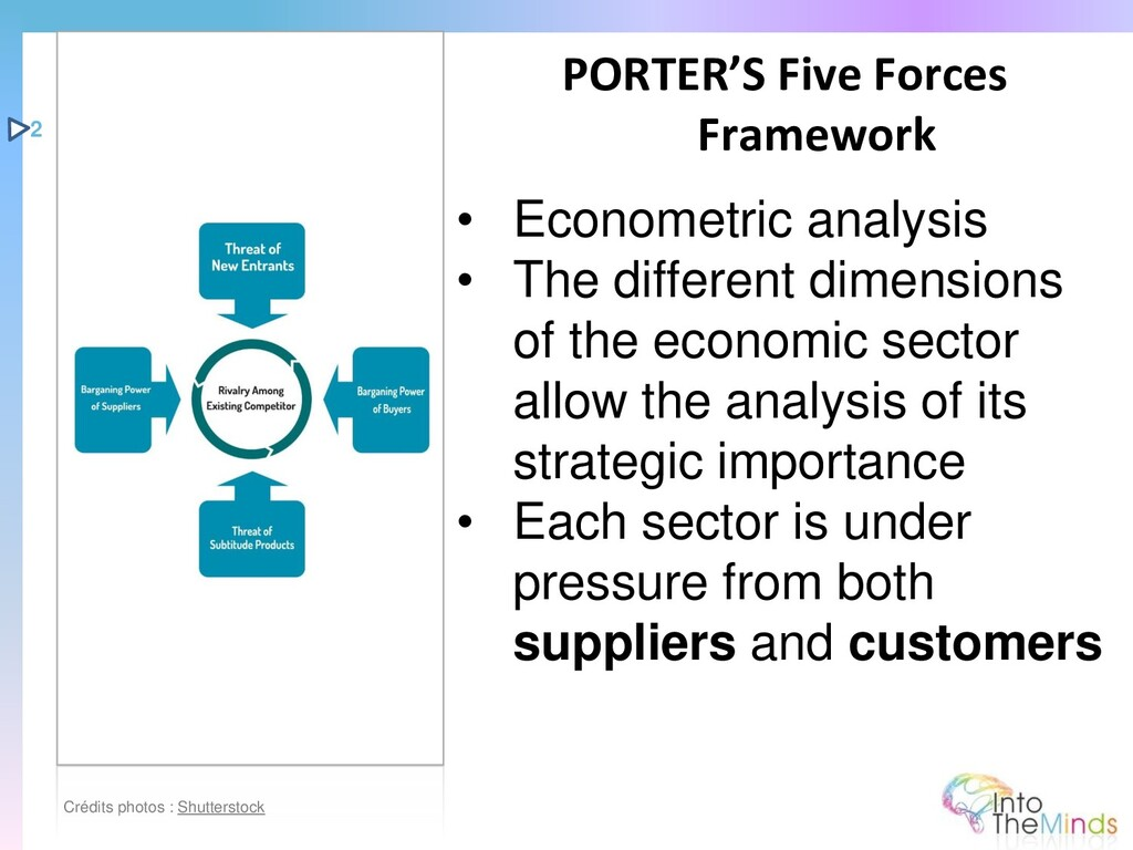 • Econometric analysis • The different dimensio...