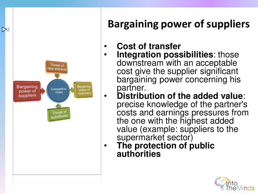 • Cost of transfer • Integration possibilities:...