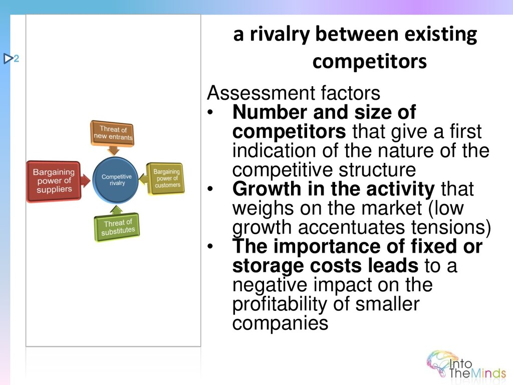 Assessment factors • Number and size of competi...